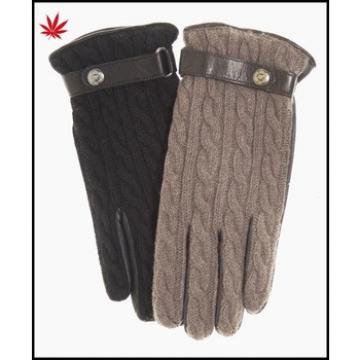 ladies wholesale leather and knitted leather gloves with belt