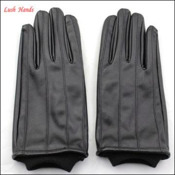 Wholesale new style men fabric leather gloves fashion leather gloves