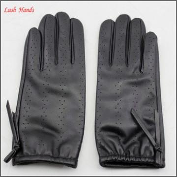 driving police leather hand gloves women thin leather gloves