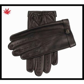 men's sheepskin driving police leather gloves