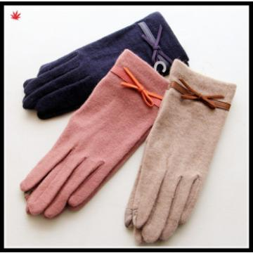 2016 women's welcomed colored touch-screen woolen fashion gloves