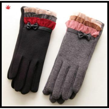 ladies lovely thick woolen gloves for wholesale made in China