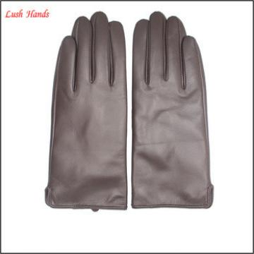 2016 brown leather hand gloves women cheap leather gloves winter