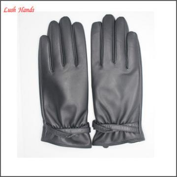 ladies cheap driving leather gloves black