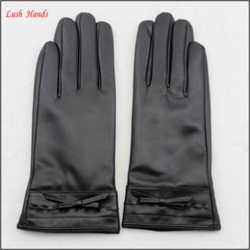pu leather hand gloves women winter leather hand gloves