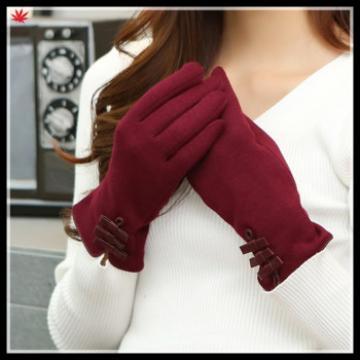 China supplier ladies simple style elegant micro velvet gloves