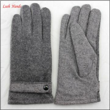 2016 man's High Quality wholesale woolen gloves with button