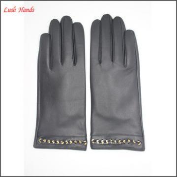 2016 new sexy dresses for women genuine sheepskin gloves velcro on palm
