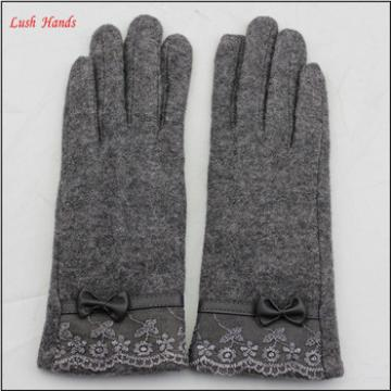 High quality fashion woolen gloves for women