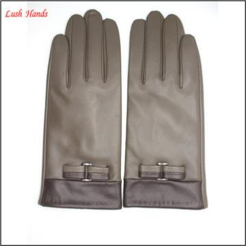 cheap leather hand gloves winter leather gloves lady