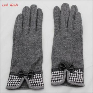 women fashion washed sheep wool smartphone touch screen woolen glove