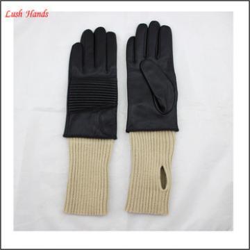 women /men Match popular element, knitting, leather gloves