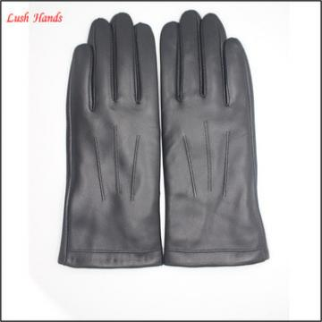 2016 lady's 100% genuine sheepskin gloves with three back stitches