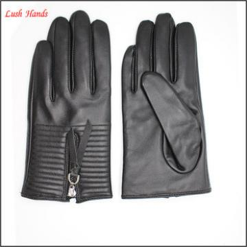 fashion women gloves Silver zipper ring short women gloves
