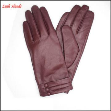 2017 Women's Leather Gloves with buttons
