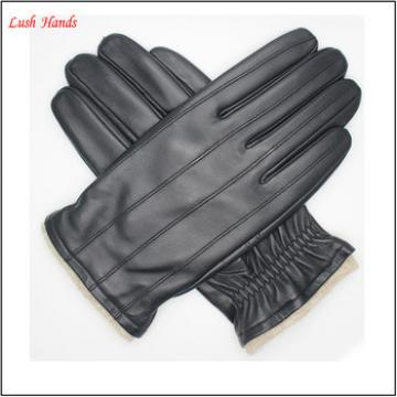 Men's winter leather gloves fashion and simple leather gloves