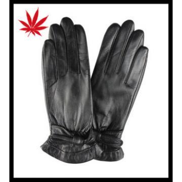 ladies patent leather genuine sheepskin dress leather gloves