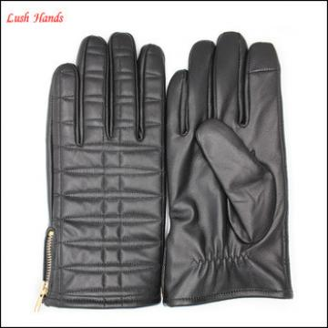 cashmere lined man leather gloves back leather gloves back Embroidered gloves