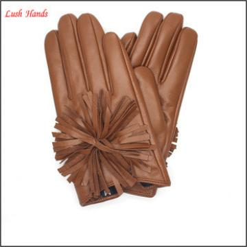 2016 Custom fit ladies sheepskin leather fashion gloves