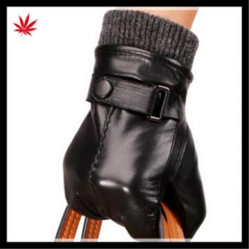 men's wholesale smartphone touch-screen genuine leather gloves