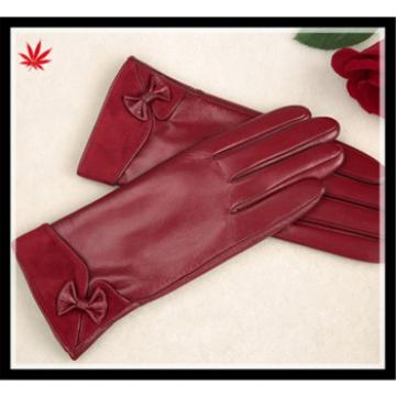 women's delicate 100% nappa leather gloves with wholesale price