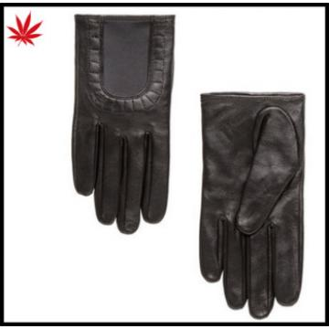 lady leather gloves with elastic binding off of brief short gloves