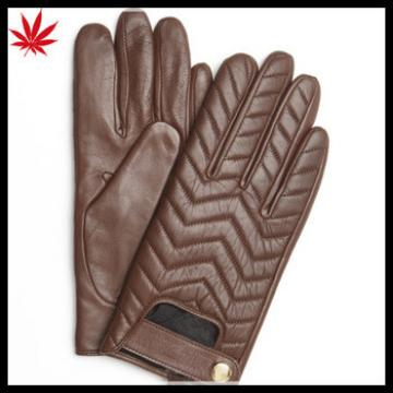 Women's Contrast Wool-Lined sheepskin Leather Gloves