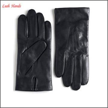 Men's Black /brown cashmere lined leather gloves