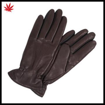 Women genuine sheepskin leather gloves and the Palm with elastic