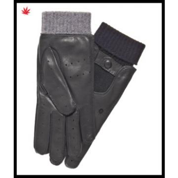 mens real leather gloves with knitted cuff made in China for wholesale