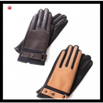 2016 modish fangle genuine leather patched gloves for women
