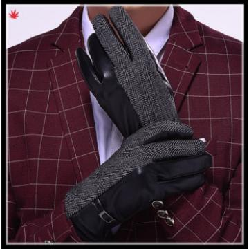 hot selling high-grade men's leather gloves with soft lining