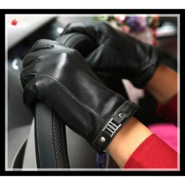 2017 men's classic simple style leather gloves wholesale