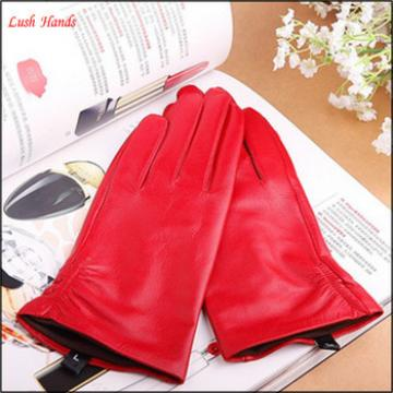 lady's finger and thumb touch-screen smart fitness leather gloves for wholesale