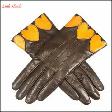 ladies genuine leather winter hand gloves touch screen smartphone leather gloves