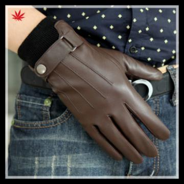 mens real leather gloves made in China for wholesale foreign trade