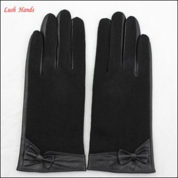 wool back goatskin palm fashion women cheap leather glove