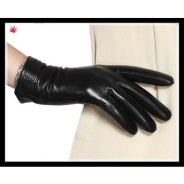 2016 ladies fangle simple genuine leather gloves