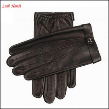 2016 fashion men's leather driving gloves for wholesale