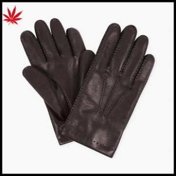men's genuine leather gloves winter warm driving leather gloves
