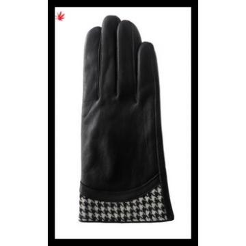 lady's high-grade 2016 new style sheepskin leather gloves with wholesale price