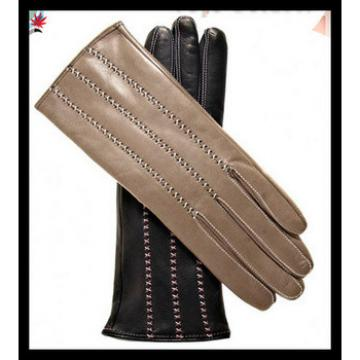 2016 men's popular fangle genuine leather glove with lines