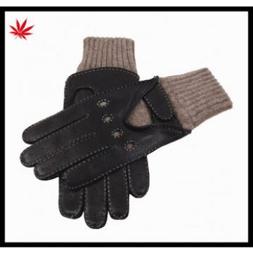 Boys fashion able cabretta leather motorcycle gloves