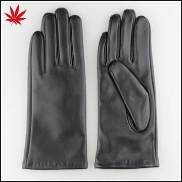 Women cashmere lining leather gloves best selling wholesale
