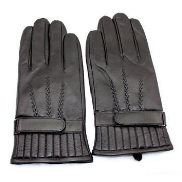 men's stylish100% sheepskin leather gloves with wholesale price