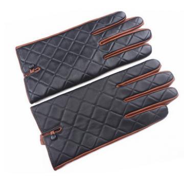 2017 new fashion men sheepskin leather gloves