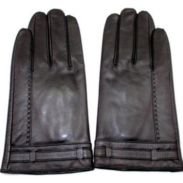 men's simple style high-quality leather gloves