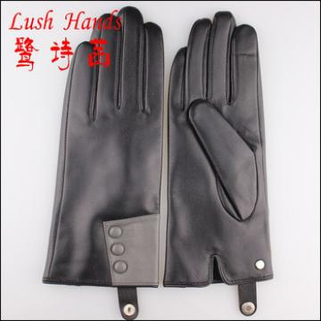 2016 popular fangle genuine leather glove with buttons
