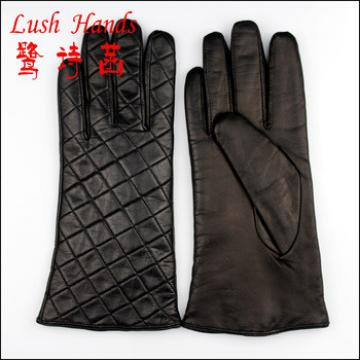 2016 new fashion checker leather gloves with wholesale price