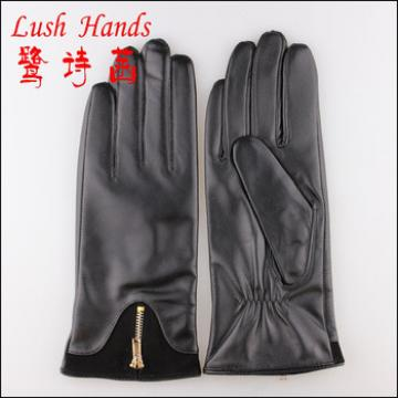 Fanshion sheep leather women touchscreen leather gloves
